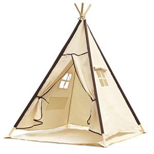 Lavievert Indian Canvas Teepee Children Playhouse