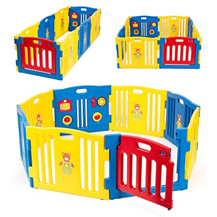 Kidzone Baby Playpen Kids 8 Panel